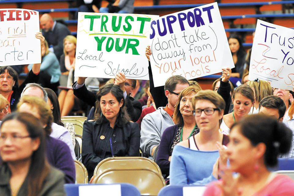The Morgan Hill Federation of Teachers successfully fought back an expansion of for-profit charter school chains in 2014 by mobilizing members and organizing swift community action.