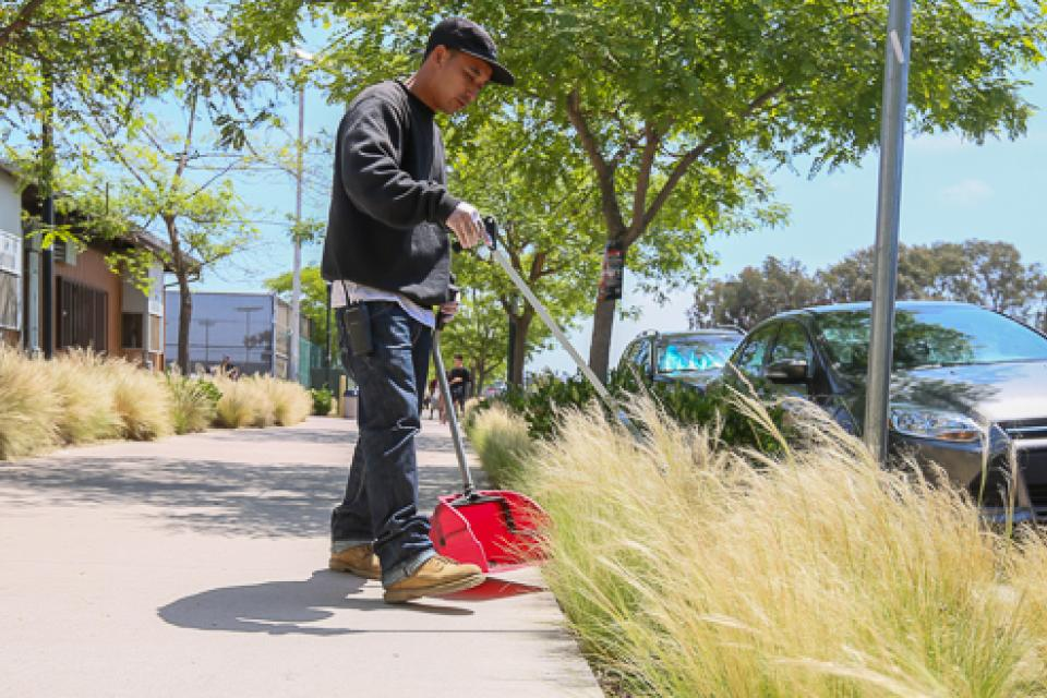 Groundskeepers in the San Diego Community College District are well versed in the safety and reporting procedures required for chemical application.