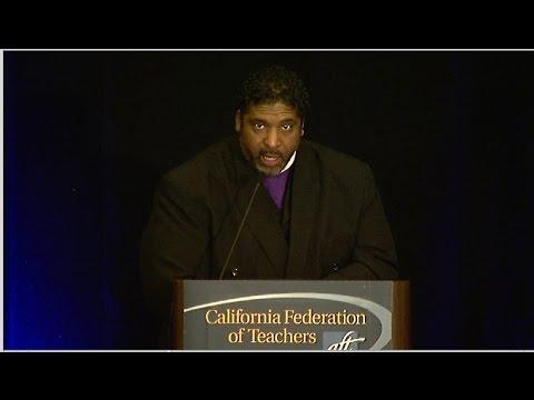 Reverend Dr. William Barber speaks
