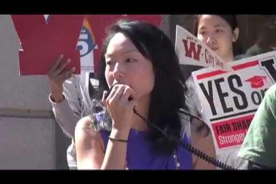 Alliance to Reclaim Our Schools: Rally for Prop 55 and Measure W in San Francisco