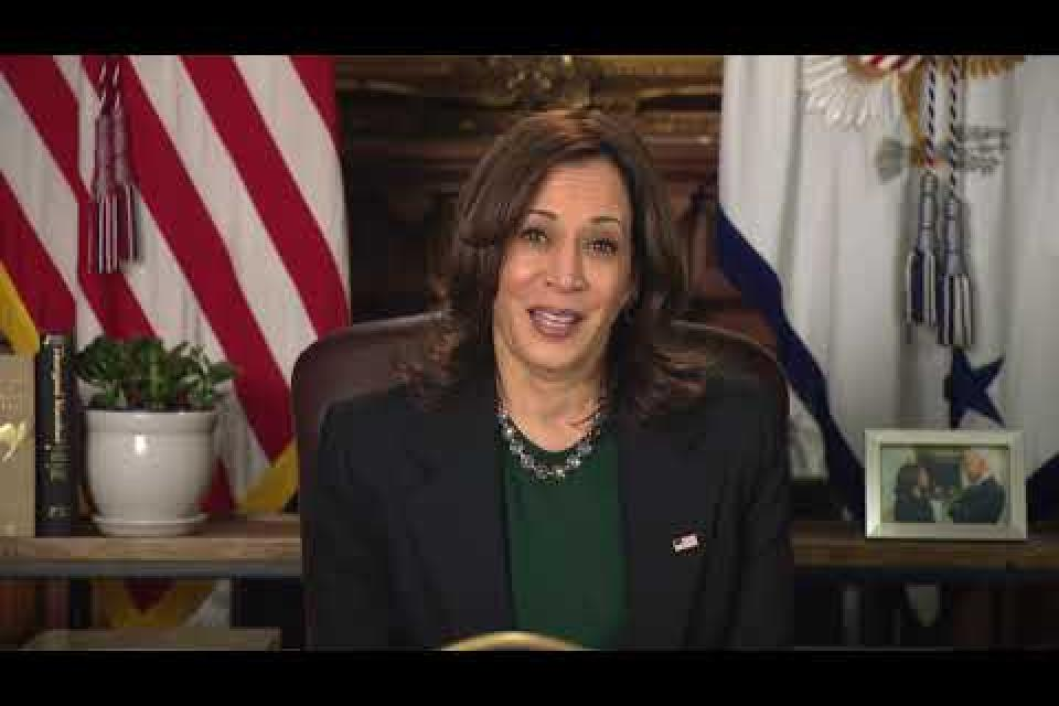 Vice President Kamala Harris speaks to CFT Convention