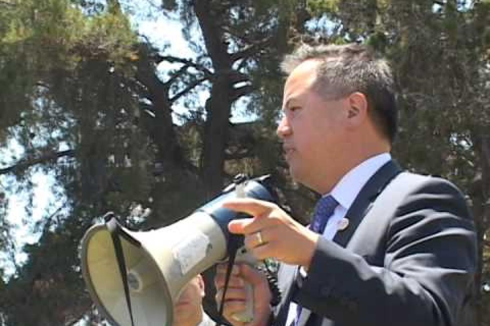 Rally outside ACCJC meeting June 5 2015