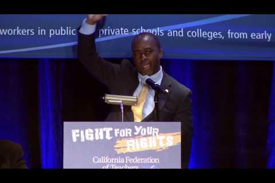 Assemblymember and candidate Tony Thurmond