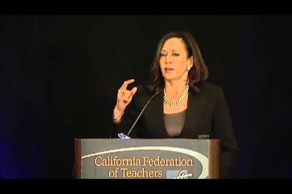 Kamala Harris at CFT convention